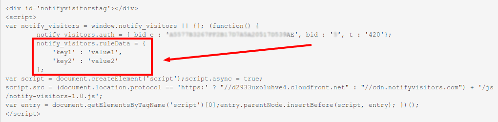 custom rule integration code