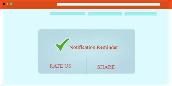 reminder web push notifications