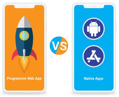 PWA web app vs Native Apps