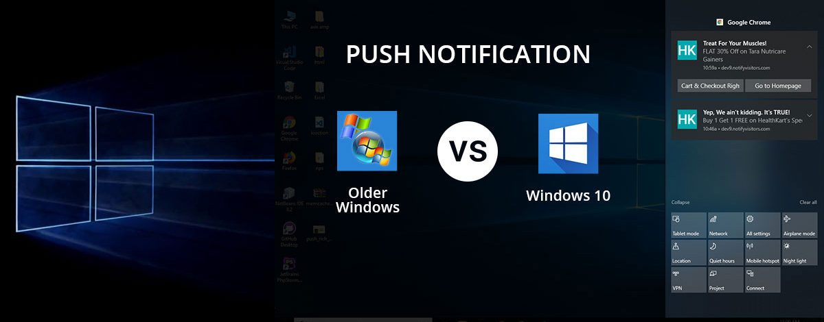 New Chrome push notifications on windows 10 | NotifyVisitors