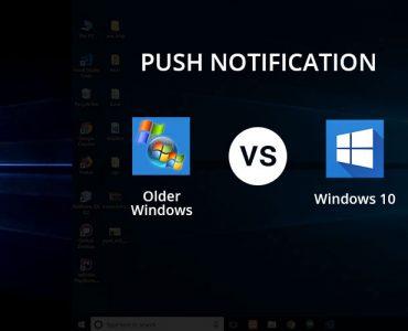 Chrome push notifications on windows 10