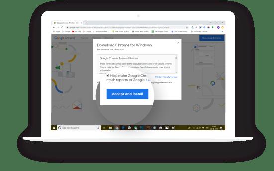 Install progressive web apps into desktop.