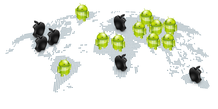 Android users in world