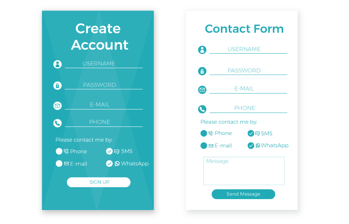 whats app contact form