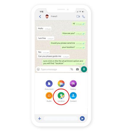 Work Location in Whatsapp Business