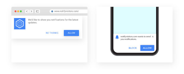 Difference between native app notifications and web push notifications