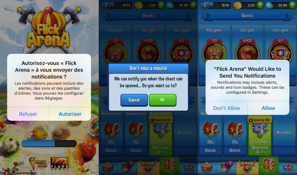 Game app push
