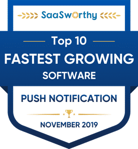 fastest growing push notification company
