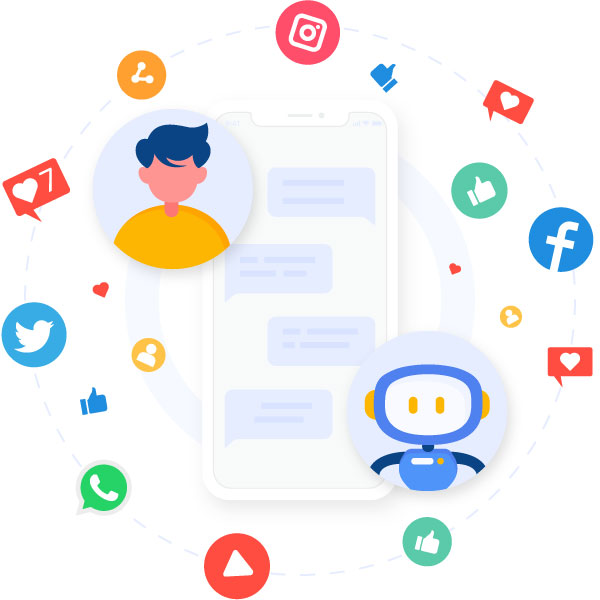 Automate social media support
