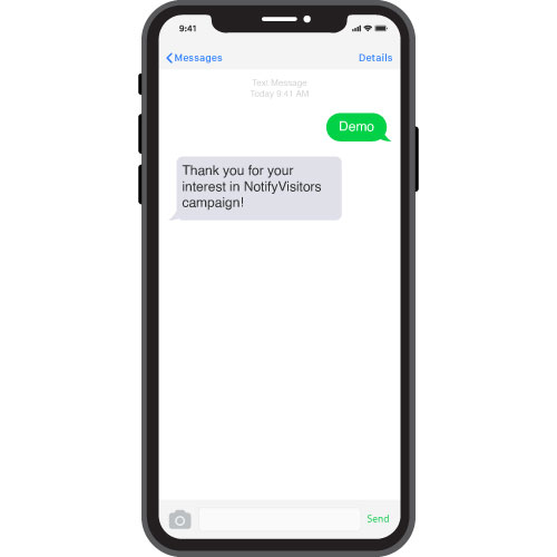 3. Groom your email subscribers through a text