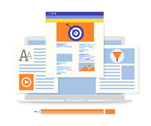 landing pages content